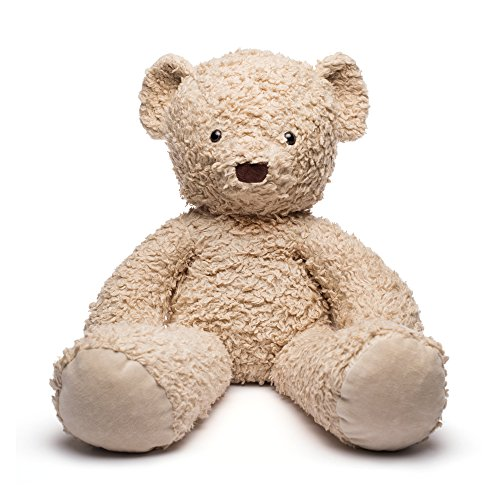 """Bears For Humanity Organic Sherpa Bear Plush Animal Toy, Cream, 24"""" from Bears For Humanity"""