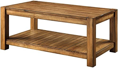 Better Homes and Gardens Bryant Coffee Table, Rustic Brown Finish