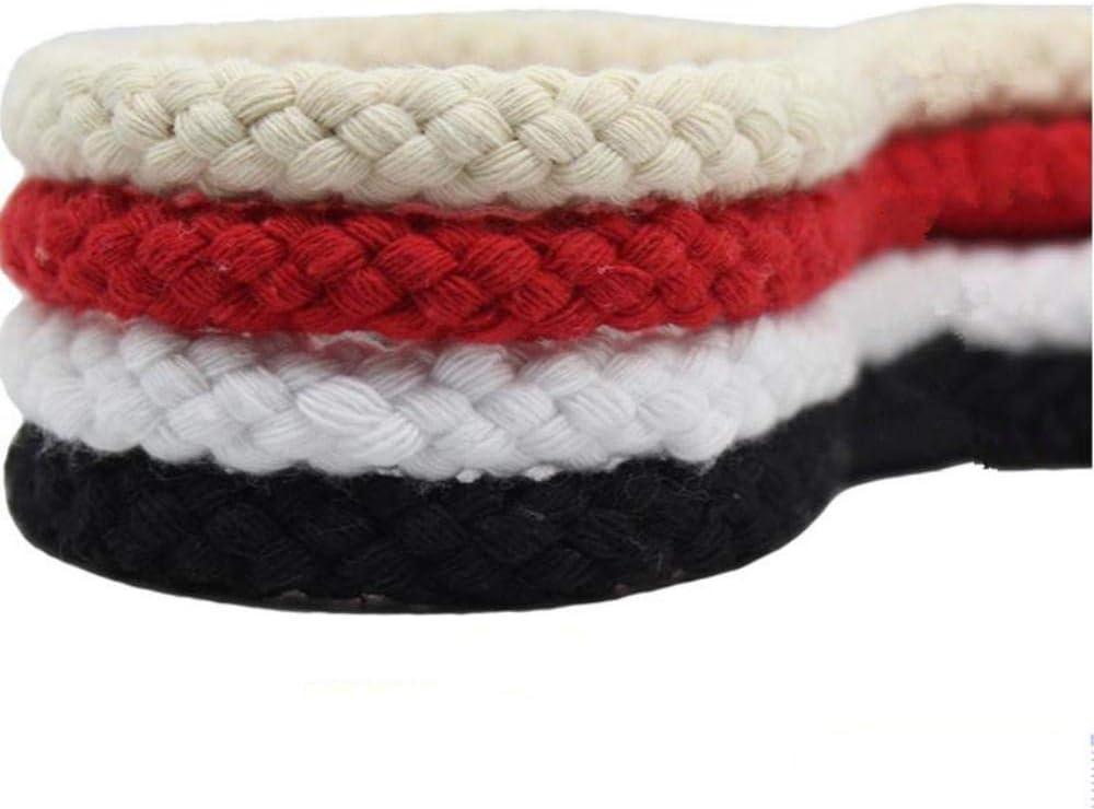 Rouge Pcs Bricolage /À La Main Tissage Corde Rouge Blanc Noir Coton Nou/é Nou/é Corde///Corde Artisanat D/éCoration Corde HKFG 10MmX5M