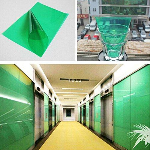 HOHO Green Decoration Solar Tint Window Film Self-Adhesive for Kitchen,Bathroom Windows,60''x98ft Roll by HOHO