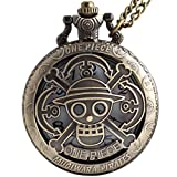 VIGOROSO One Piece Vintage Antique Bronze Steampunk Quartz Pocket Watch Necklace Pendant Gift Box