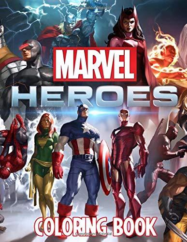 Marvel Heroes Coloring Book: Marvel   Avengers   Endgame ...