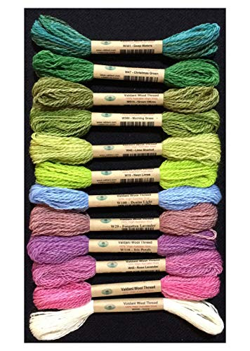 (Valdani Size 8 Wool Embroidery Thread ''Hint of Spring'' Collection)