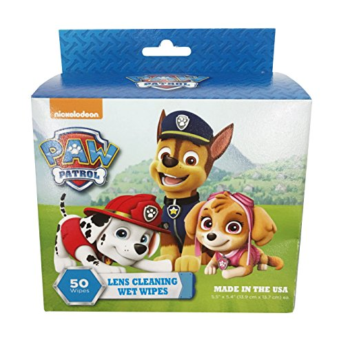 Paw Patrol Pre-moistened Lens & Glass Cleaning Wipes for Glasses,Camera,Cell Phone,Smartphone,and Tablet,Safe for AR lenses, Quick Drying,Streak Free,Disposable Individual packet 50ct x 2 (2 BOX)