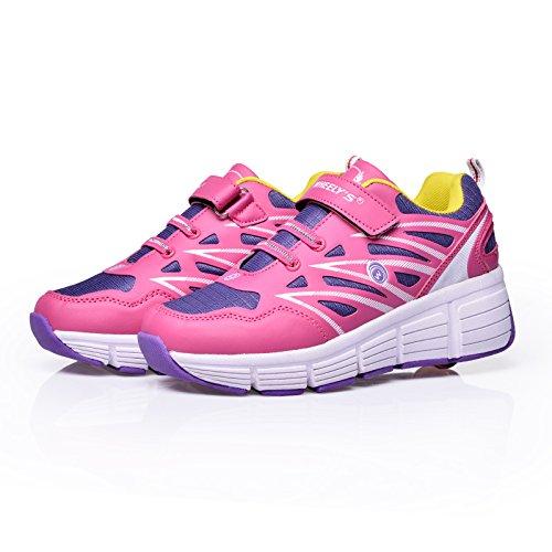 Sneakers mit automatischen Rollen für Kinder - Atmungsaktiv - Pink - Verschiedene Größen