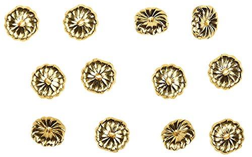 14K Gold Filled Small Earring Backs Premium Swirl 5mm (6 (Small Swirl Earrings)