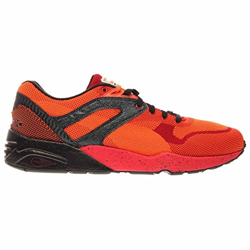 High Vibrant Mesh Knit Red Mens Splatter Orange Risk Sneakers Red PUMA Blac Orange R698 Szwqx7gEF