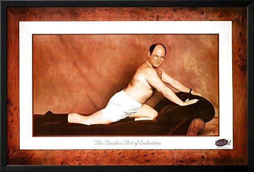 Seinfeld George The Timeless Art of Seduction TV Poster Print Lamina Framed