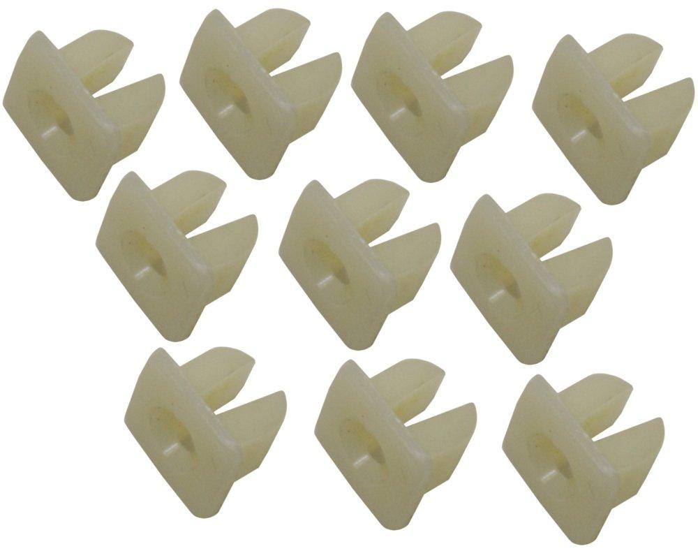 AERZETIX 10 x Remaches pl/ásticos para molduras de salpicadero y laterales ventanas de coche