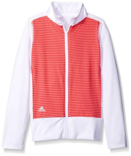adidas Golf Girls Rangewear Jacket, Core Pink/White, (Range Wear Knit Skort)