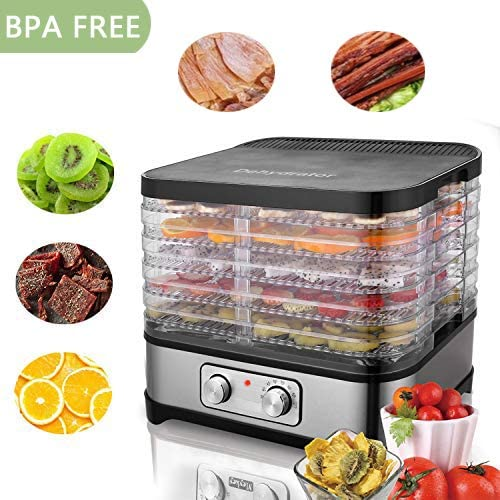 Food Dehydrator Machine, Electric Multi-Tier Food Preserver, Meat or Beef Jerky Maker, Fruit Leather, Vegetable Dryer 120V BPA Drying Rack Trays Transparent Door US Stock