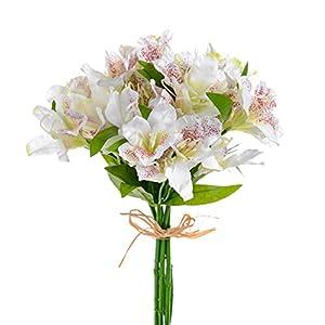 FloristryWarehouse Artificial Alstroemeria Bundle Cream 13 Inches x 5 Stems 2