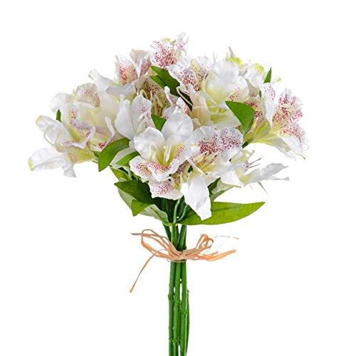 - FloristryWarehouse Artificial Alstroemeria Bundle Cream 13 Inches x 5 Stems