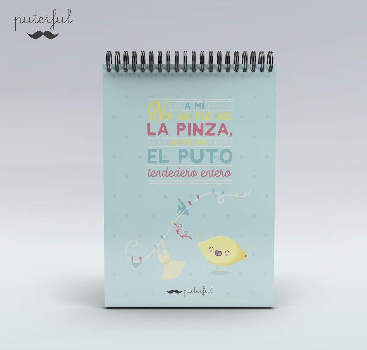 Puterful Bloc Cuarto A mí no se me va la Pinza mr: Amazon.es ...
