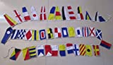 Marine Signalling Flags – 40 Flags Bunting - 12 Feet - Nautical/Boat / Beach Party (5161)