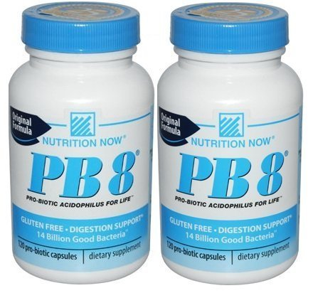 Nutrition Now Pb 8 acidophilus Pro-biotiques pour la vie - 120 Capsules (2 PCK)