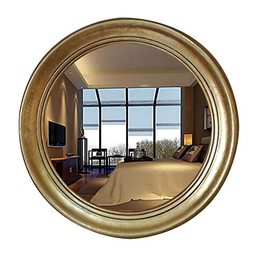 HTTDIANAA Makeup Mirror European Style Simple Round Mirror Art Mirror Wall Hanging -