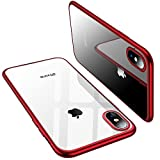 iPhone X Case, TORRAS Ultra Thin Slim Fit Flexible Soft TPU Transparent Crystal Clear Cover Case for Apple iPhone X, Red