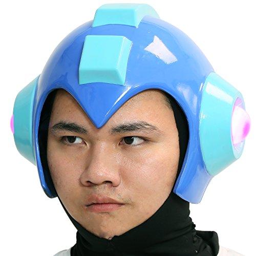 [Mega Man Helmet Deluxe Resin Halloween Cosplay Costume Adult Mask Props Xcoser] (Megaman Halloween Costume)