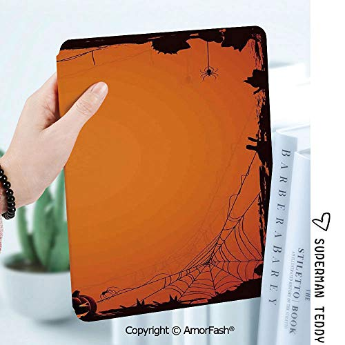 Case for Samsung Galaxy Tab A 8.0 2017 Model T380/T385, Light Weight Shock,Halloween Decorations Grunge Spider Web Pumpkins Horror Time of Year Trick or Treat]()
