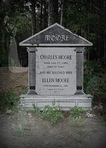 Evil Soul Studios Charles Ellen Moore Column Tombstone Halloween Props HUGE Life Size Halloween Yard Decoration ()