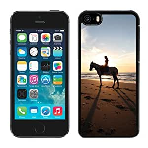 Beautiful Girl and Sunset Hard Plastic iPhone 5C Protective Phone Case