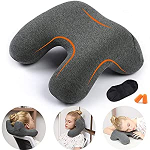 HAOBAIMEI Travel Neck Pillow, Memory Foam Travel Pillow for Airplanes, Car, Camping, Office, School, Head Neck Pillow…