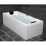 whirlpool badewanne rechteck 2 personen led und radio. Black Bedroom Furniture Sets. Home Design Ideas