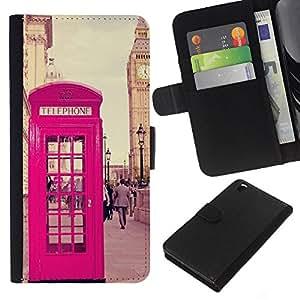 KingStore / Leather Etui en cuir / HTC DESIRE 816 / UK Royaume-Uni Big Ben