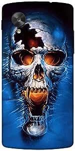 Snoogg Skull Fury Designer Protective Back Case Cover For Google Nexus 5