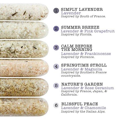 Emma T's Lavender Bath Salts Gift Set - Fizzy Bath Salts - 6 Baths