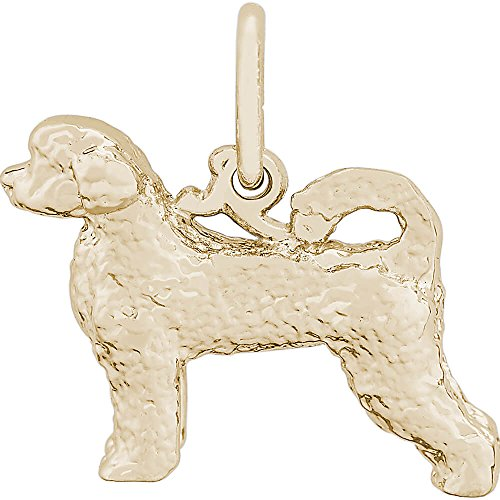 Rembrandt Charms Portuguese Water Dog Charm, 14K Yellow Gold by Rembrandt Charms