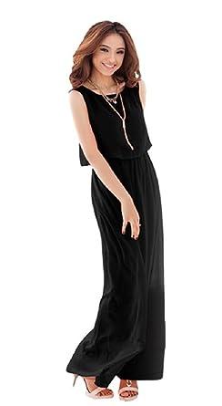 6d235e86c77e2 ゆったり マキシスカート レディース マキシワンピース ノースリーブ シフォン リゾート マキシワンピ ドレス mk-49 (