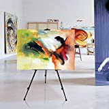 Popamazing Folding Artist Telescopic Field Studio Painting Easel Tripod Display White Board Stand With A Carry Bag