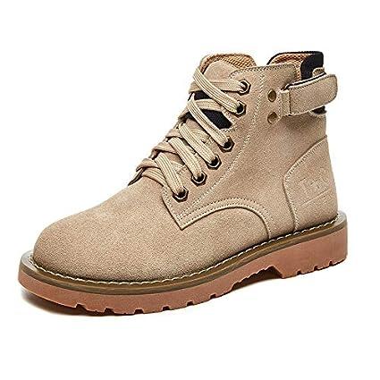 Boots Femmes SWEAAY Bottes Martin en À Bottes Cuir pour 54j3cRLqA