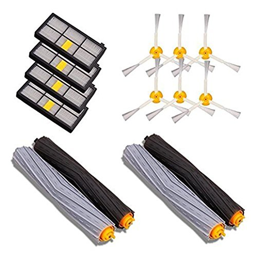 SODIAL 14PCS Accessories for iRobot Roomba 880 860 870 871 980 990 Replenishment Parts Spare Brushes Kit