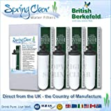 4 pack - 7'' British Berkefeld Super Sterasyl Ceramic Water Filters for Big Berkey and many other Gravity Filters SSCF-7