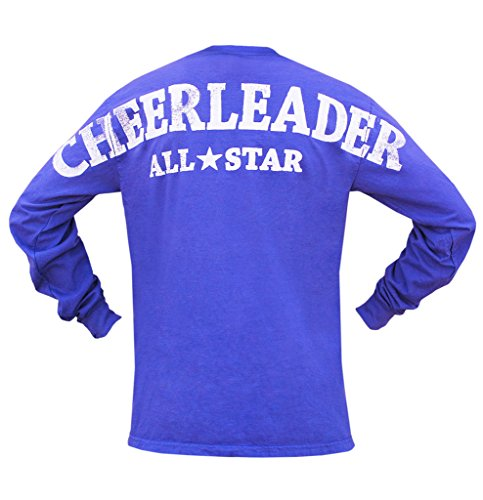 [Youth Cheerleader All Star Stadium Jersey T Shirt Purple Medium] (Kids Greek Outfit)