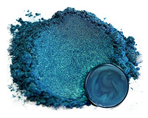 """- Eye Candy Mica Powder Pigment """"Macaw Green Blue"""" (50g) Multipurpose DIY Arts and Crafts Additive 