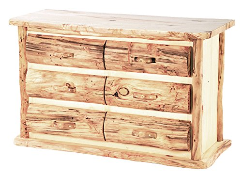 Mountain Woods Furniture Aspen Heirloom Collection 6 Drawer Dresser, Wood Pull, 54