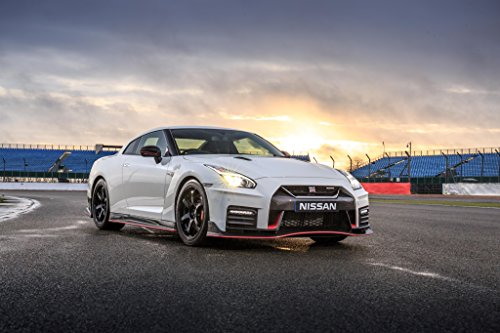 Nissan Gtr Spec - Nissan GT-R Nismo UK Spec (2017) Car Print on 10 Mil Archival Satin Paper White Front Side Static View
