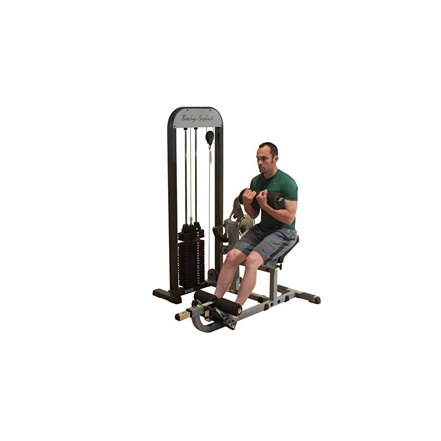 Body Solid GCABSTK Pro Select Ab and Back Machine with DuraFirm Padding and Adjustable Cam 210 Pound