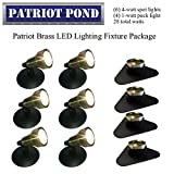 Patriot Brass LED Waterproof Pond and Landscape Lighting Fixture ONLY Kit PF-E4