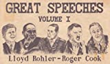 Great Speeches, Rohler, Lloyd E. and Cook, Roger A., 0961648902