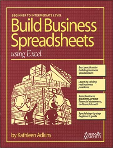building business spreadsheets using excel kathleen adkins jacque
