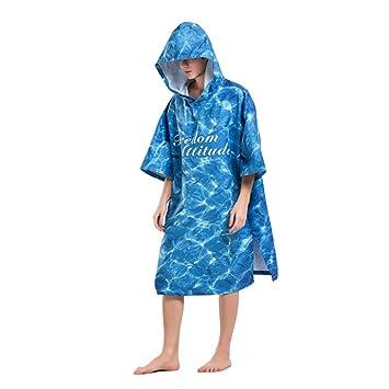 Bata de cambio de playa para adultos, Underea Oversized Surf Poncho de secado rápido para hombres ...
