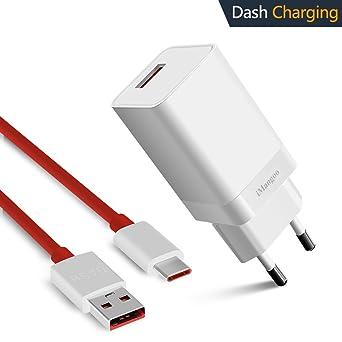 Oneplus 6 Cargador, iMangoo OnePlus Dash Cargador 5V 4A Dash Cable de carga 3.3 FT USB Tipo C cable de Carga Rápida para OnePlus 6 6T 5T 5 3 3T: Amazon.es: Industria, empresas y ciencia