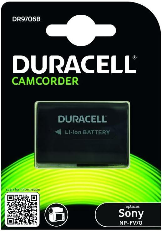 Duracell DR9706B - Batería de videocámara 7.4 V, (reemplaza batería Original de Sony NP-FV70 / NP-FV90)