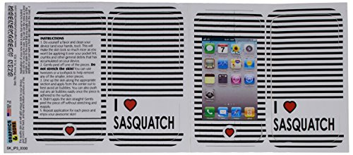 Graphics and More Protective Skin Sticker Case for iPhone 3G 3GS - Non-Retail Packaging - I Love Heart Sasquatch, Bigfoot