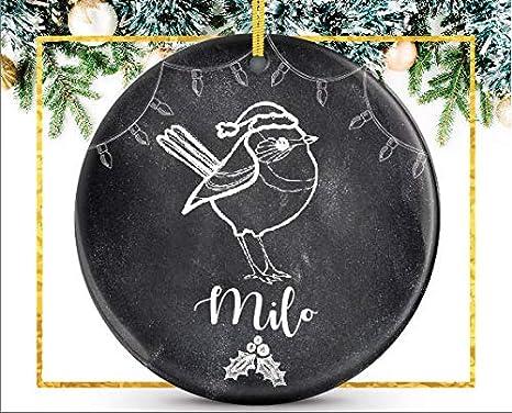 cwb2jcwb2jcwb2j Adorno Personalizado para Mascotas Mascota dueño de Mascotas, Regalo Personalizado para Propietario de pájaros, cerámica, Adorno de Porcelana para Recuerdo de 3 Pulgadas